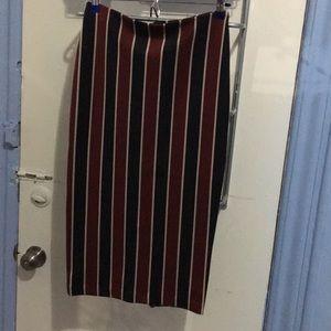 Pin Strip Pencil Skirt